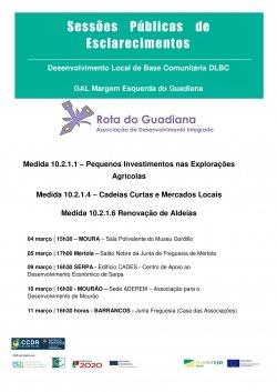Cartaz Sessões Esclarecimento GAL MEG Março 2020