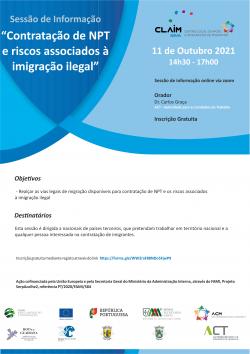 Cartaz Sessão de Informação ACT 11.10.2021
